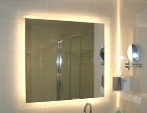 wall mirror installation