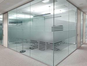 corner office glass partition in dubai